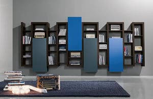 biblioth que suspendue meuble biblioth que. Black Bedroom Furniture Sets. Home Design Ideas